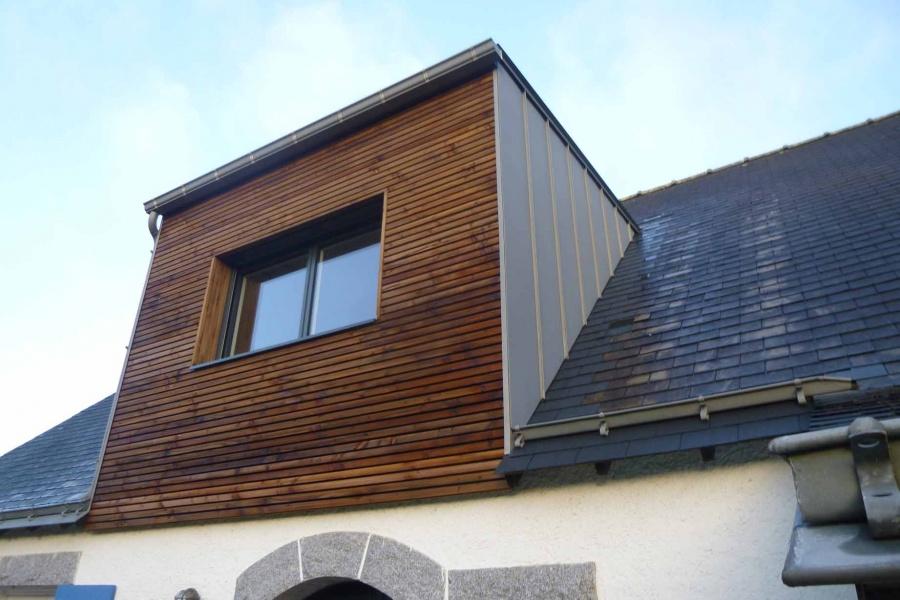cr ation d 39 une lucarne rampante la chapelle sur erdre. Black Bedroom Furniture Sets. Home Design Ideas