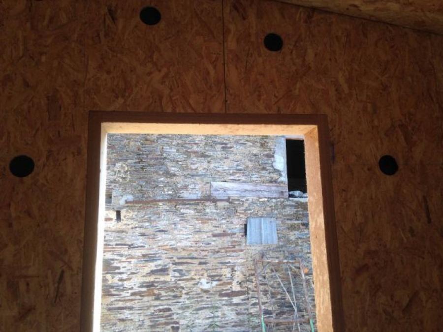 Am nagement d 39 une salle de chasse et cr ation d 39 un g te for Construction bois 68