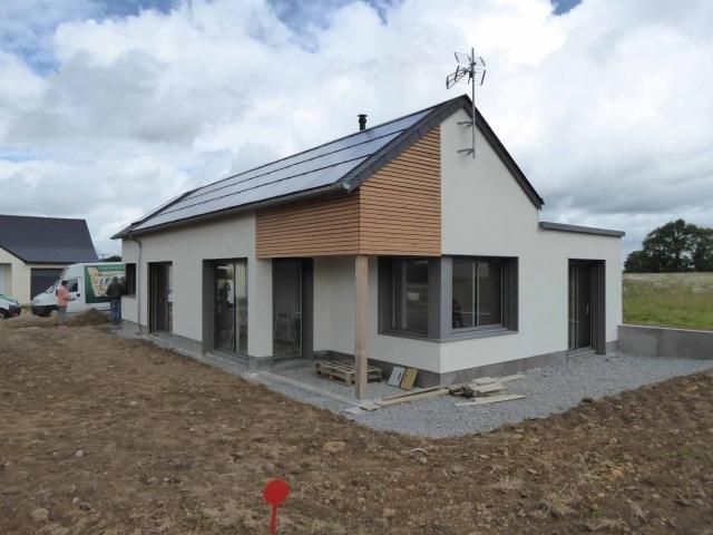 Maison ossature bois et béton de chanvreà ERBRAY # Maison Bois Et Beton