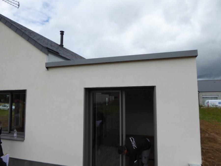 Maison ossature bois et b ton de chanvre erbray for Construction bois 35