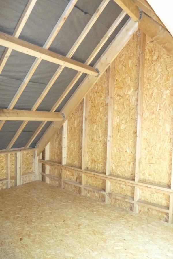 Garage ossature bois petit mars for Osb exterieur pluie