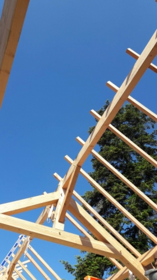 Inauguration de l 39 extension r novation de la mediatheque de suce sur erdre for Construction bois 93